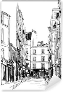 Vinil Duvar Resmi Paris'in Montmartre yakın sokak