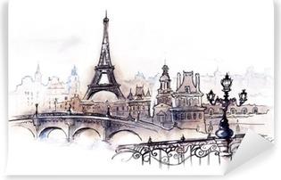 Vinil Duvar Resmi Paris (seri C)