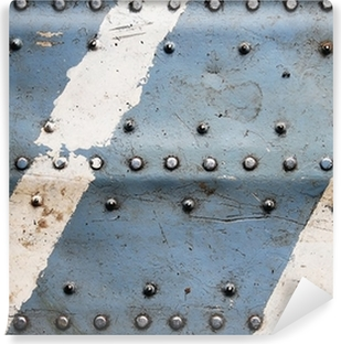 Vinil Duvar Resmi Perçin Metal doku, uçak gövde