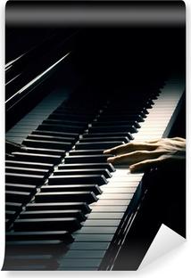 Vinil Duvar Resmi Piyano müziği piyanist eli oyun.