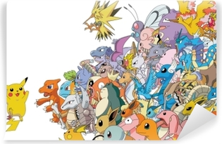 Vinil Duvar Resmi Pokemon