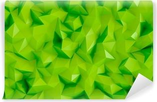 Vinil Duvar Resmi Poligon kireç yeşil 3d üçgen geometrik arka plan