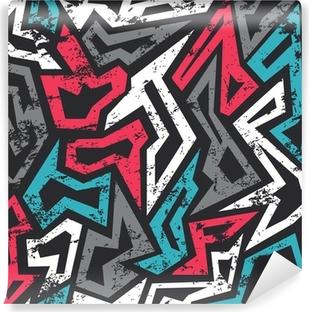 Vinil Duvar Resmi Renkli grunge etkisi ile sorunsuz desen grafiti