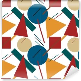 Vinil Duvar Resmi Renkli soyut geometrik formlar. Dikişsiz desen supermatism. vektör çizim