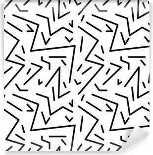 Vinil Duvar Resmi Retro 80s tarzı, memphis dikişsiz geometrik bağbozumu desen. kumaş tasarımı, kağıt baskı ve web sitesi zemin için idealdir. EPS10 vektör dosyası
