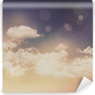Vinil Duvar Resmi Retro bulutlar ve gökyüzü arka plan