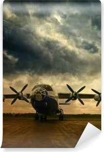 Vinil Duvar Resmi Retro havacılık, grunge background