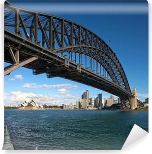 Vinil Duvar Resmi Şafakta Sydney Harbour Bridge