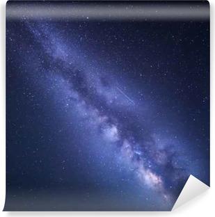 Vinil Duvar Resmi Samanyolu Gece yıldızlı gökyüzü. Nature background