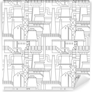 Vinil Duvar Resmi Sanayi kenti desen