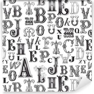 Vinil Duvar Resmi Seamless pattern - desen örneklerini kutunun içine dahil