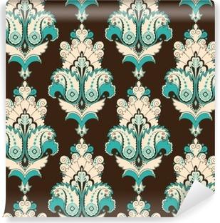 Vinil Duvar Resmi Seamless vector background. Vintage damask deseni. Kolayca renkleri düzenleyin.