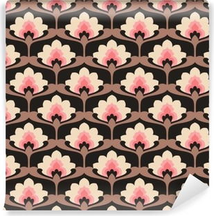 Vinil Duvar Resmi Seamless vintage floral pattern.