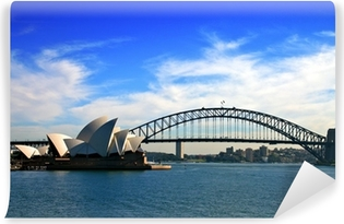 Vinil Duvar Resmi Sidney Opera Binası ve Liman Köprüsü ..