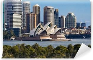 Vinil Duvar Resmi Sidney Opera Binası ve Skyline