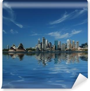 Vinil Duvar Resmi Sidney şehir yansımaları