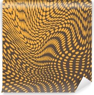 Vinil Duvar Resmi Şişkinlikler ve dalgalar halinde deforme Halftone etkisi. Sürüngen deri benzerlik. vektör arka plan