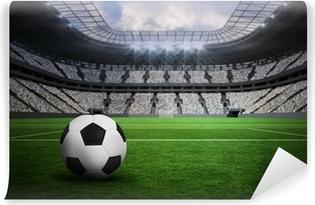 Vinil Duvar Resmi Siyah ve beyaz deri futbol Kompozit görüntü