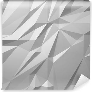 Vinil Duvar Resmi Soyut beyaz arka düşük poli