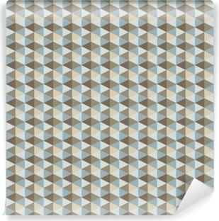 Vinil Duvar Resmi Soyut bir retro geometrik desen