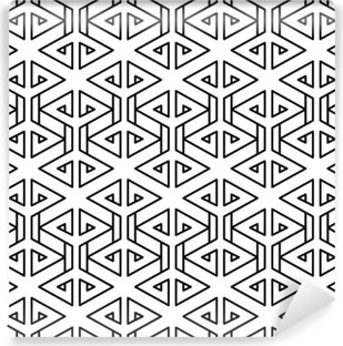 Vinil Duvar Resmi Soyut geometrik siyah ve beyaz yenilikçi moda yastık deseni