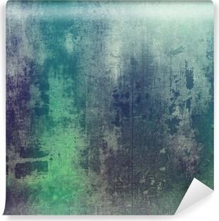 Vinil Duvar Resmi Soyut grunge arka plan olarak eski doku. farklı renk desenleri ile: yeşil; mor (menekşe); gri; camgöbeği