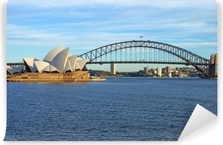 Vinil Duvar Resmi Sydney Harbour Bridge ve Opera Binası