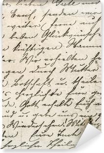 Vinil Duvar Resmi Tanımsız dilde bir metin ile bağbozumu el yazısı
