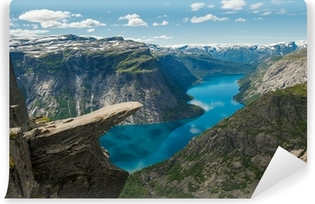 Vinil Duvar Resmi Trolltunga, Troll dilini kaya, Norveç