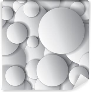 Vinil Duvar Resmi Vektör çevreler, asgari nesneler, soyut vektör tasarım kompozisyonu