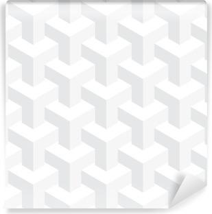 Vinil Duvar Resmi Vektör gerçekdışı doku, soyut tasarım, illüzyon inşaat, beyaz arka