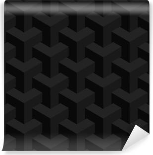 Vinil Duvar Resmi Vektör gerçekdışı doku, soyut tasarım, illüzyon yapımı, siyah arka plan