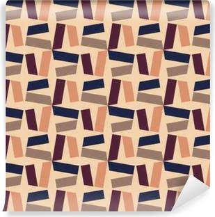 Vinil Duvar Resmi Vektör Modern kesintisiz renkli geometri desen, renk soyut geometrik arka plan, yastık çok renkli baskı, retro doku, yenilikçi moda tasarımı