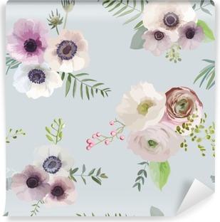 Vinil Duvar Resmi Vintage Floral Background - seamless pattern - vektör içinde