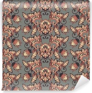 Vinil Duvar Resmi Vintage floral vektör duvar kağıdı