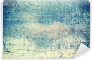 Vinil Duvar Resmi Yatay yönelimli mavi renkli grunge background