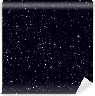 Vinil Duvar Resmi Yıldız vektör arka plan ile uzayı. Galaksi ve evren desen gezegenler