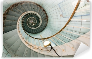 Vinil Duvar Resmi Yüksek deniz feneri merdiven
