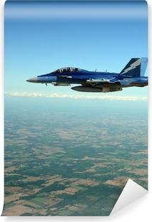 Vinil Duvar Resmi Yüksek irtifada uçan jet figter
