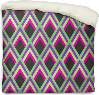 Abstract geometric pattern Duvet Cover