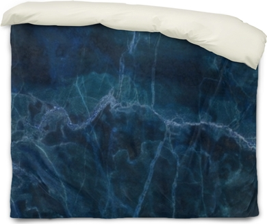 blue dark marble texture for background Duvet Cover