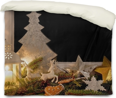 christmas decorations on a window sill wall mural pixers we live to change - Window Sill Christmas Decorations