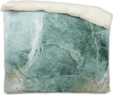 Closeup surface of big marble rock for decoration in the garden texture background Duvet Cover