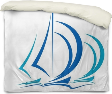 Dynamic motion of sailboats Duvet Cover