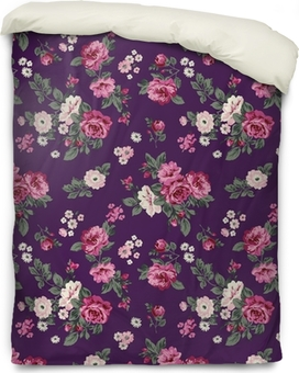 gorgeous roses seamless background Duvet Cover