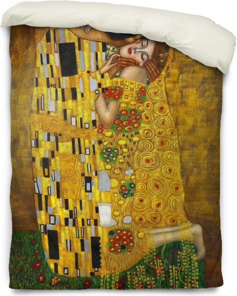 Gustav Klimt - The Kiss Duvet Cover - Reproductions