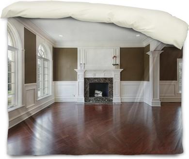Living Room With Cherry Wood Flooring Canvas Print Pixers We