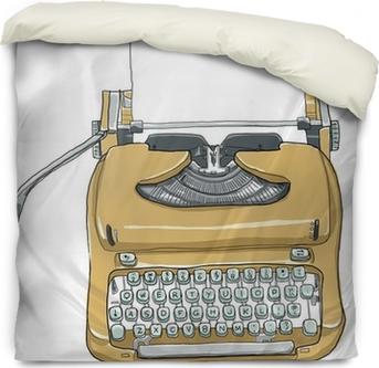 Manual Typewriter Keyboard Portable Vintage And Paper Line Art Sticker Pixers We Live To Change