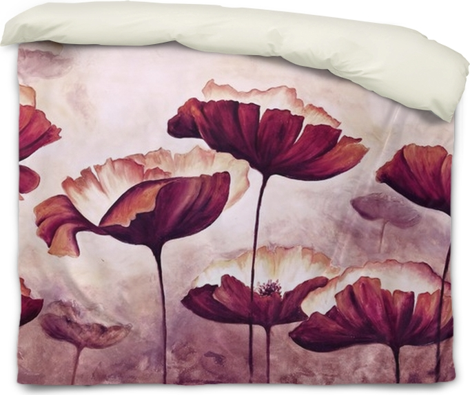 painting poppies canvas duvet cover pixers we live to change