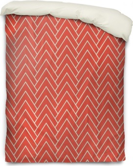 red chevron pattern Duvet Cover